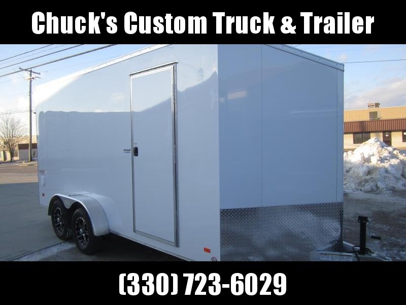 2019 Bravo Trailers 7X16 ALL ALUMINUM ENCLOSED RAMP DOOR Enclosed Cargo Trailer