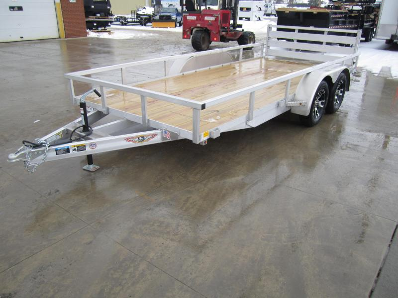 2019 H and H Trailer 82X16 TANDEM TUBE TOP ALUMINUM Utility Trailer