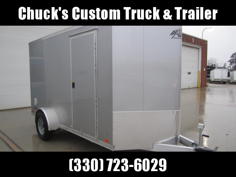ATC 6 X 12 Aluminum Wedge Nose Enclosed Cargo Trailer w/Ramp Door