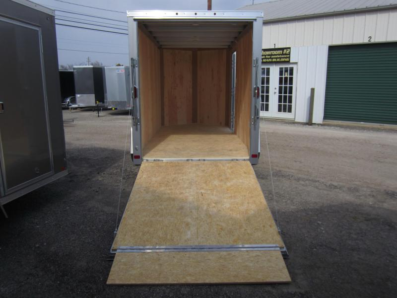 ATC 6 X 12 Aluminum Wedge Nose Enclosed Cargo Trailer w/Ramp Door