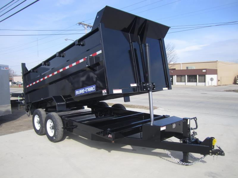 2018 Sure-Trac 82 IN X 14 LP 14K Telescopic Dump