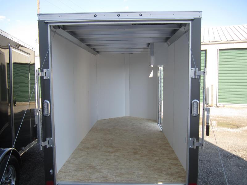 Aluminum Trailer Company 6X12 ALUMINUM CHARCOAL RAMP DOOR Enclosed Cargo Trailer