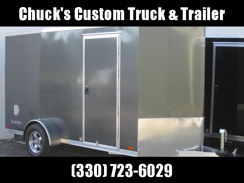 Aluminum Trailer Company 6X12 ALUMINUM CHARCOAL RAMP DOOR Enclosed Cargo Trailer