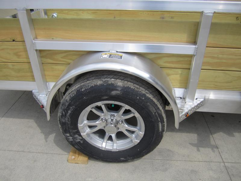 2019 H and H Trailer 8(76)X10 WOOD-SIDE ALUM 3K