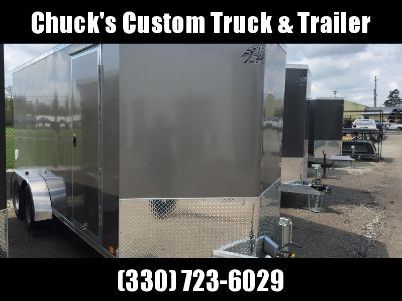 2018 Aluminum Trailer Company 7X16 ATC RAMP DOOR Enclosed Cargo Trailer