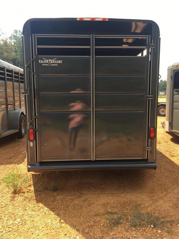 2019 Calico Trailers 6x17 Slate Gray Horse Trailer