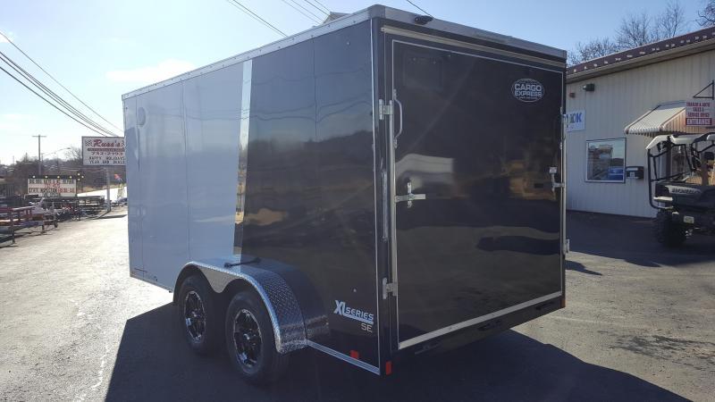 2018 Cargo Express 7 X 14 XLW Enclosed Trailer Alumn Wheels w/ Ramp Door