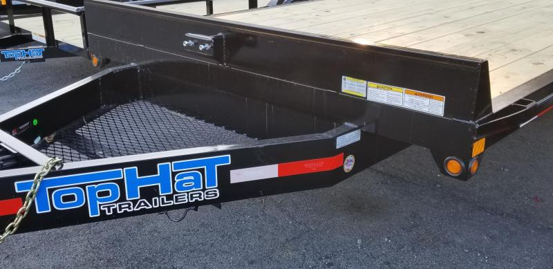 """2019 Top Hat 20' X 102"""" Deckover Flatbed Trailer 5'Fold up Ramps"""