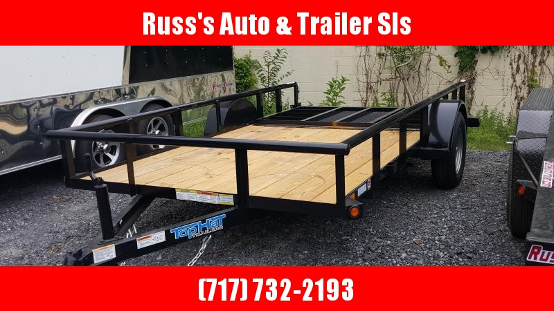 2018 Top Hat Trailers DSP Utility Trailer 6.5 X 12 Black