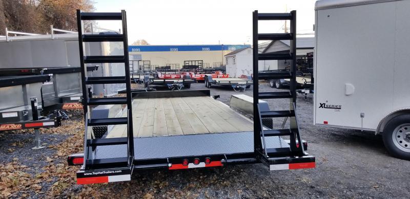 2019 Top Hat 7X18 Equipment Hauler 10K 5' Fold up Ramps