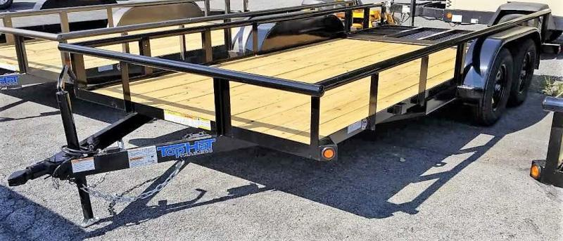 2020 Top Hat Trailers 7X16 PIPE RAIL Utility Trailer