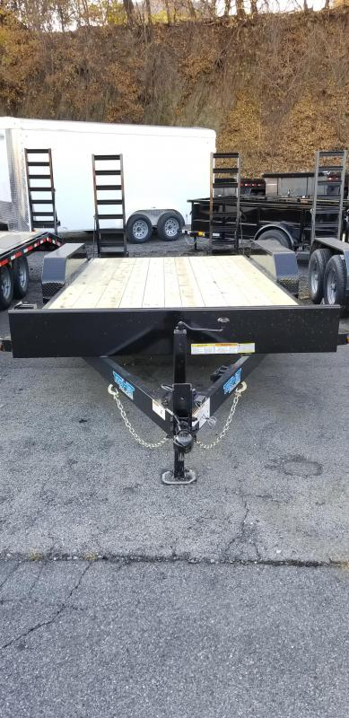 2020 Top Hat 7X16 Equipment Hauler 10K 5' Fold up Ramps