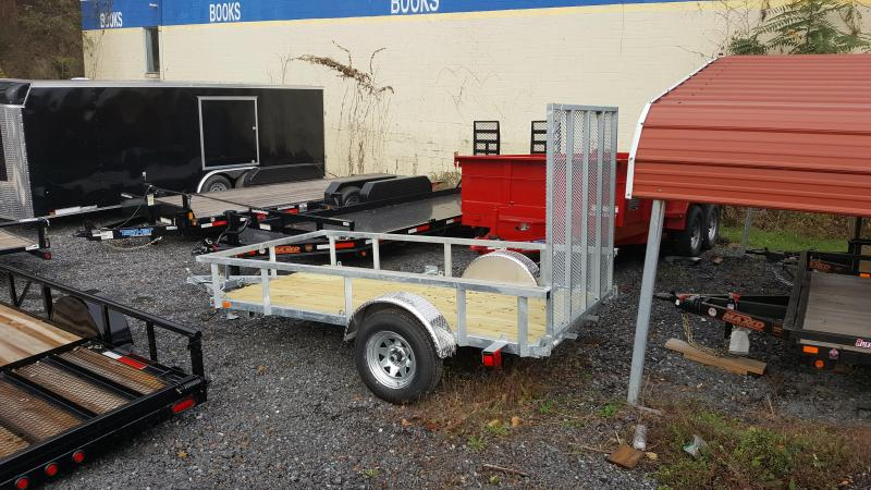 2018 Load Rite 5x10 Utility Trailer w/ Open Sides & Ramp