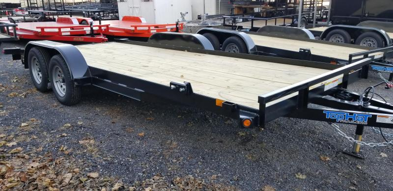 2019 Top Hat Trailers 7x18 Carhauler 7K Slide-In Ramps