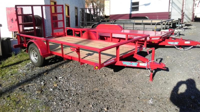 2018 Top Hat Trailers DSP Utility Trailer 6.5 X 12 Red