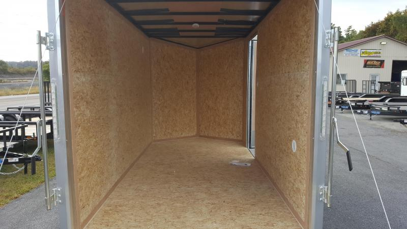 2018 Cargo Express XLW SE 6 X 12 Enclosed Trailer w/ Ramp Door - Silver