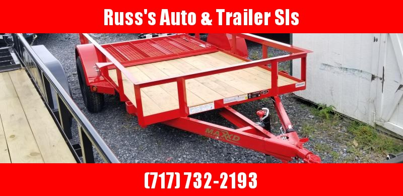 2019 Maxxd S3X 5X10 Utiltiy Trailer Wood Deck w/Ramp Gate