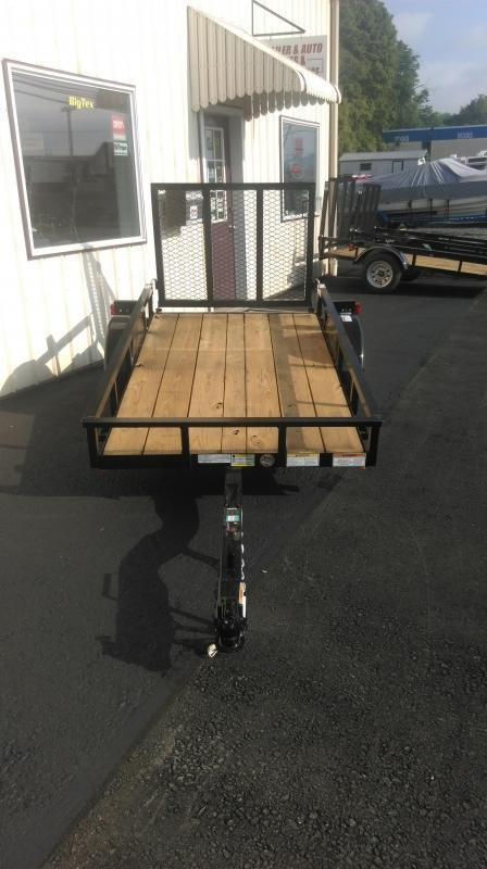 2017 Top Hat DJ 15 4 X 8 Wood Deck Utility Trailer