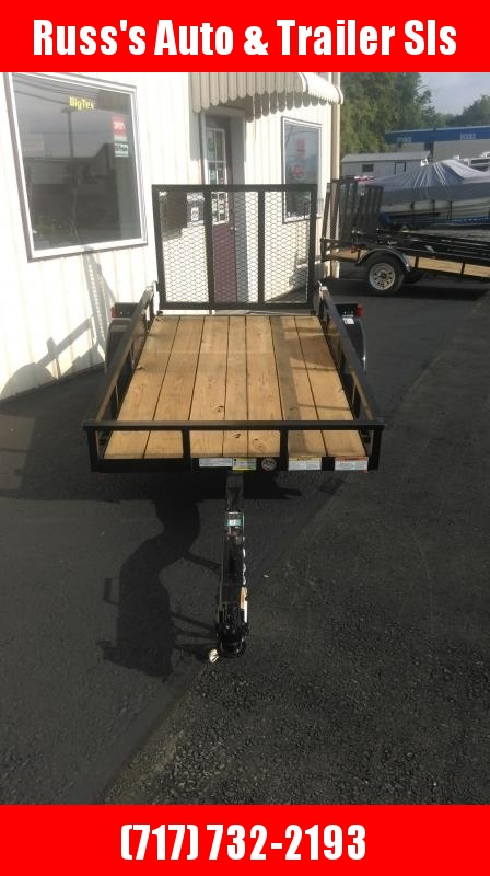 2019 Top Hat DJ 15 8X50 Wood Deck Utility Trailer
