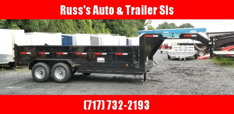2019 Top Hat Trailers 7X16 GN DP140 Dump Trailer 14K in Ashburn, VA