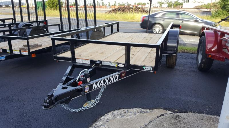 2018 Maxxd 5 X 10 Utility Trailer White Series TILT-Black