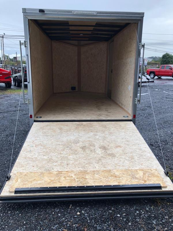 2019 Cargo Express EXDLX 7x12 Silver w/Ramp Door