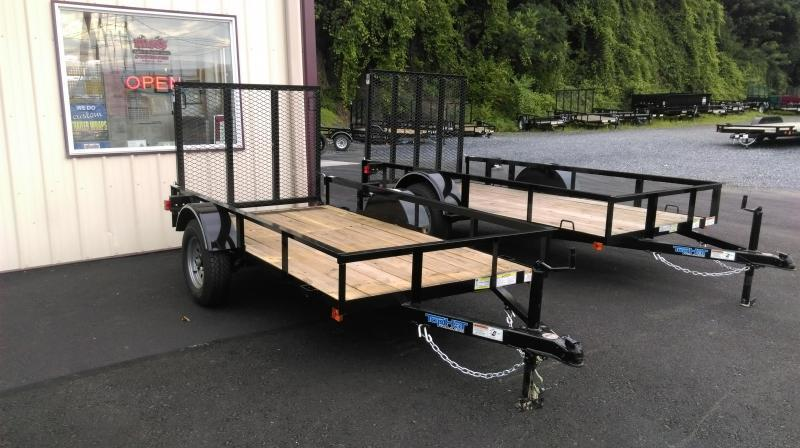 2018 Top Hat Trailers DJ 25 Utility Trailer 4.5 X 9 Wood Floor