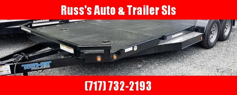 2019 Top Hat 7 X 18 CarHauler w/Steel Deck 7k Chrome Pkg