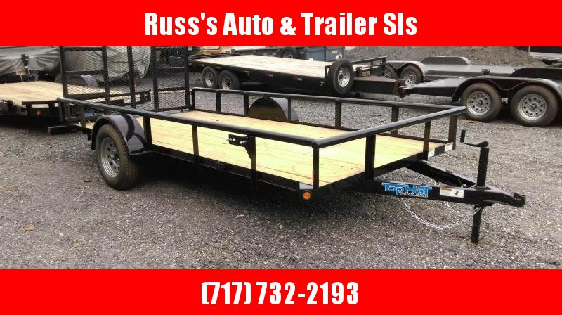 2019 Top Hat Trailers 6.5X14 Utility Trailer w/Pipe Rail