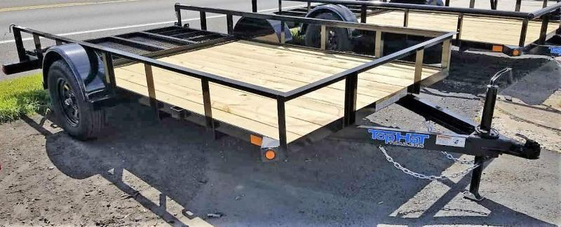 2020 Top Hat Trailers 6.5X12 Angle Rail Utility Trailer