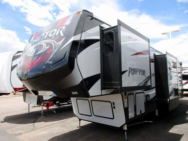 2017 Keystone Rv Raptor 355ts Ramp Patio Fifth Wheel Toy Hauler