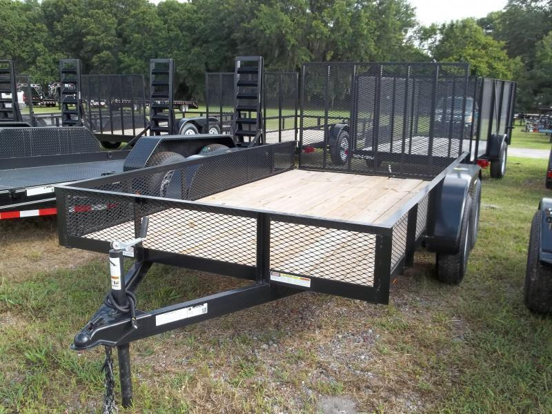 2018 Triple Crown 6x12 Tandem Axle Mesh Open Utility Trailer