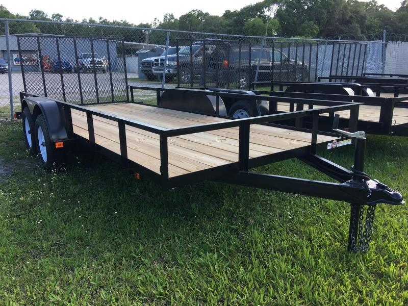 2018 Triple Crown 6x16 Tandem Axle Open Utility Trailer