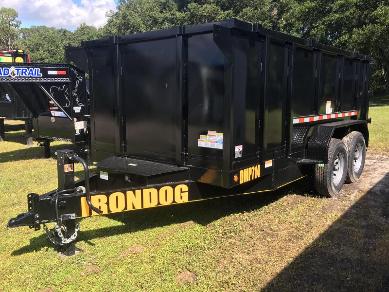 2018 Irondog 7x14 4ft Sides Dump Trailer