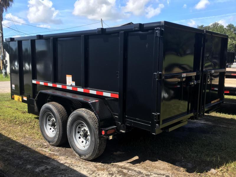 2018 Irondog 7x14 4ft Sides Dump Trailer