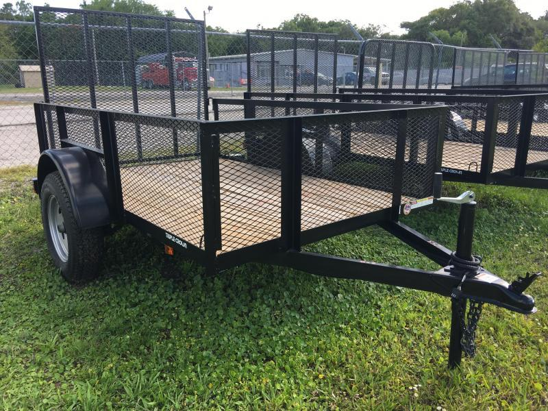 2018 Triple Crown 5x8 Single Axle Mesh Open Utility Trailer