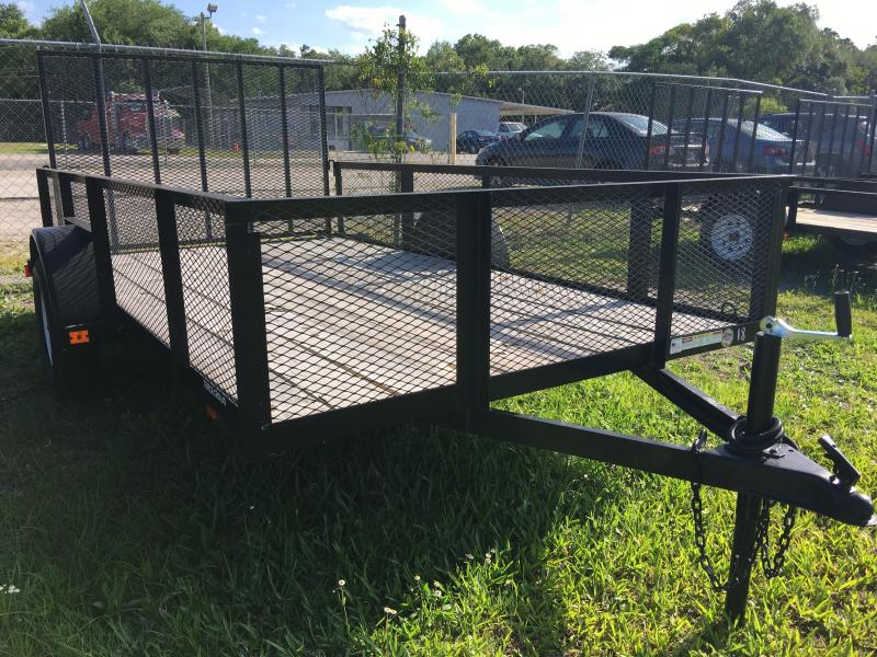 2018 Triple Crown 6x12 Single Axle Mesh Open Utility Trailer