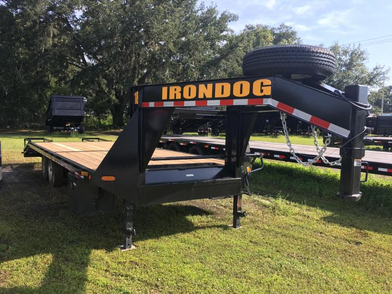2018 Irondog 8.5x25 Gooseneck Equipment Trailer