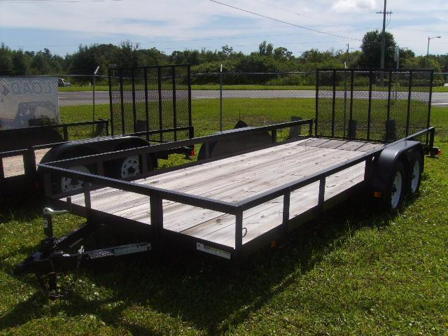 2018 Triple Crown 7x18 Tandem Axle Open Utility Trailer