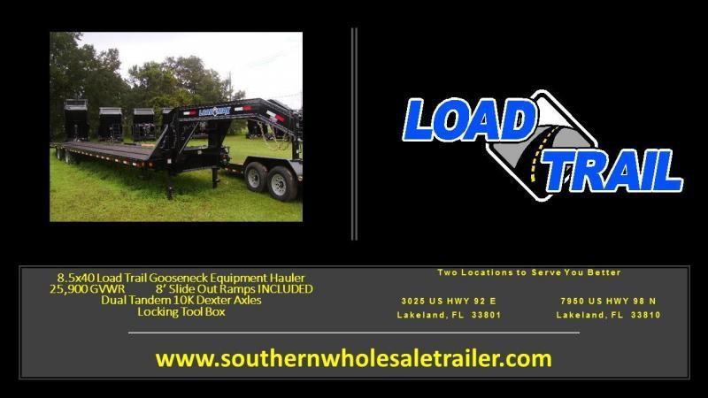 8.5x40 Load Trail  Trailer Flat Deck Gooseneck Trailer [25900 GVWR]