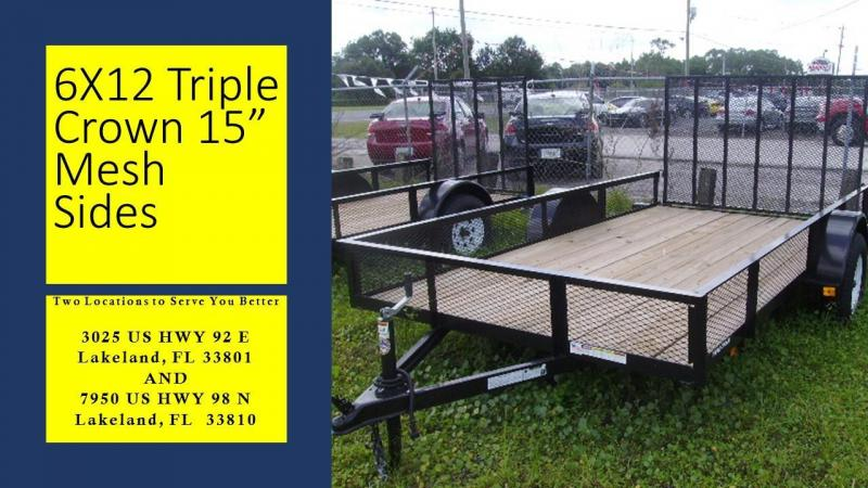 6x12 Triple Crown Trailers Utility Trailer