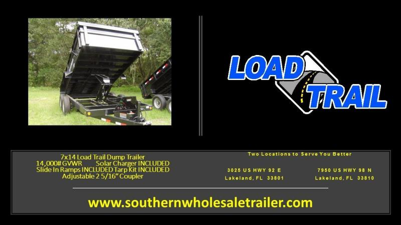 "2017 Load Trail 83"" x 14' Tandem Axle Dump (with scissor lift)"
