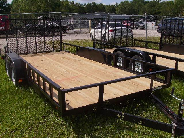 2018 Triple Crown 7x16 Tandem Axle Open Utility Trailer