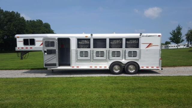 2003 C and C Trailers 4H with Mangers Horse Trailer