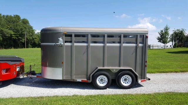 2004 CornPro 2H Slant Stock Combo Horse Trailer