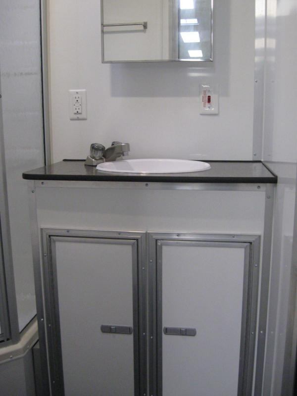 <b>FULL LARGE BATHROOM w/SHOWER</b> 2019 48' Millennium Platinum Enclosed Gooseneck Trailer Perfect Price/Perfect Options