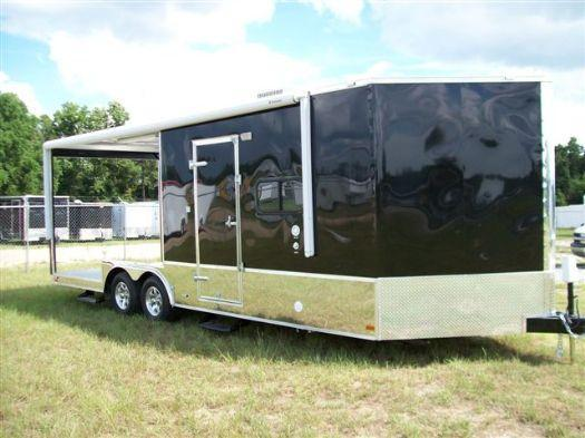 Custom Barbeque Enclosed Trailer with Living Quarters