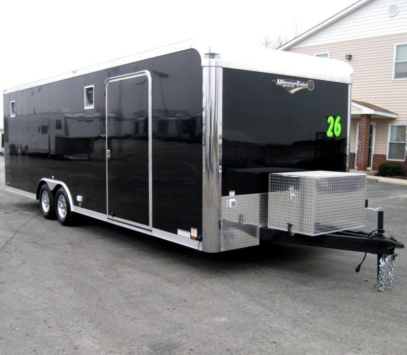 26' Millennium Enclosed Race Car Trailer w/Front Generator Box LOADED in Ashburn, VA