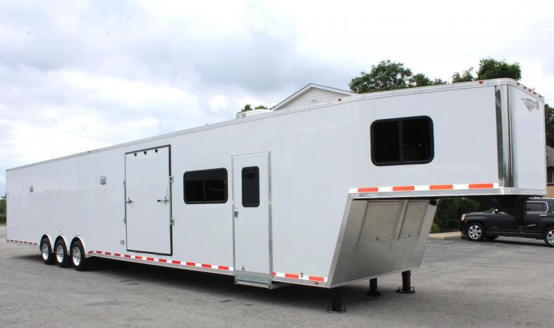 <b>Sale Pending</b> Custom 53' Living Quarter 2020 Millennium Platinum Side Ramp Door/Holds 2 Cars