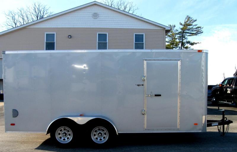 2019 7'x16' Hero Budget Enclosed Cargo Trailer Silver Exterior  in Ashburn, VA
